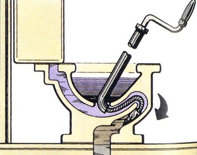 thông bồn cầu bằng lò xo